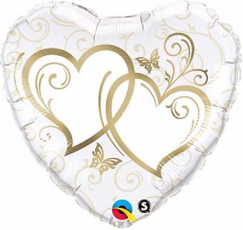 ENTWINED HEARTS GOLD 18IN FOIL