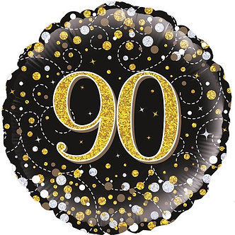 90TH SPARKLING FIZZ BLACK AND GOLD FOIL