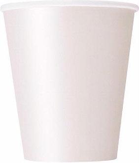 14PK 9OZ BRIGHT WHITE CUPS
