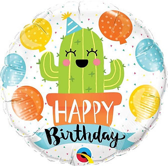 18IN B/DAY PARTY CACTUS FOIL BALLOON