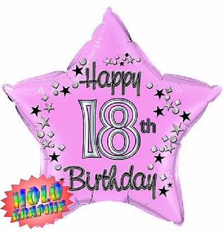 22IN 18TH PINK FOIL BALLOON