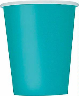 14PK CARIBBEAN TEAL 9OZ CUPS