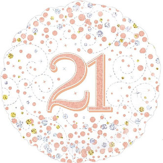 18IN SPARKLING FIZZ 21ST B/DAY FOIL