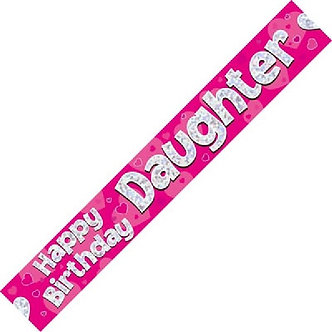 9FT HAPPY B/DAY DAUGHTER BANNER