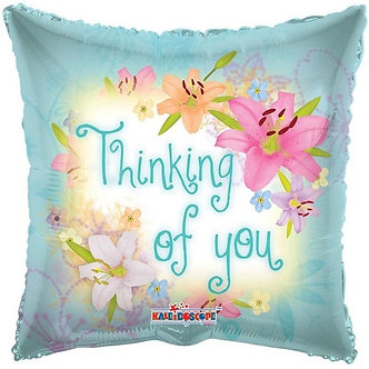 18IN THINKING OF YOU SPRING FLOWERS FOIL