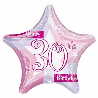 19IN PINK SHIMMER 30TH FOIL BALLOON