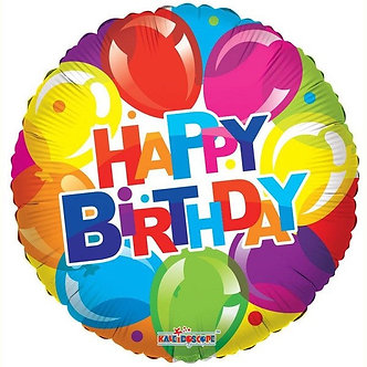 18IN BIRTHDAY SHINY BALLOONS FOIL