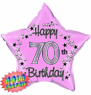 22IN 70TH PINK FOIL BALLOON