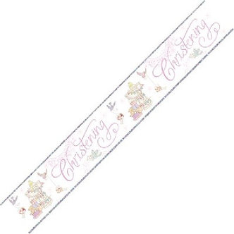 CHRISTENING GIRL 9FT BANNER