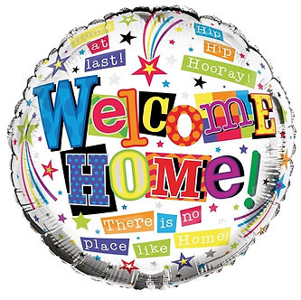 WELCOME HOME 18IN FOIL BALLOON
