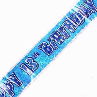 9FT BLUE GLITZ 13TH BANNER