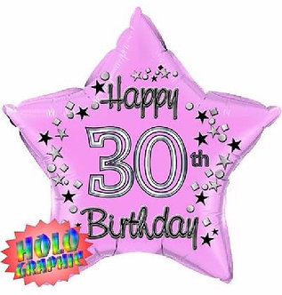 22IN 30TH PINK FOIL BALLOON