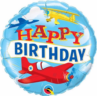 18IN B/DAY AIRPLANES FOIL BALLOON