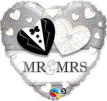 MR. & MRS. WEDDING 18IN FOIL BALLOON
