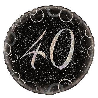 18IN BLACK PRISMATIC 30TH FOIL BALLOON