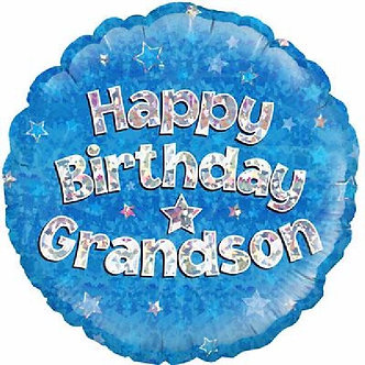 GRANDSON B/DAY 18IN FOIL BALLOON