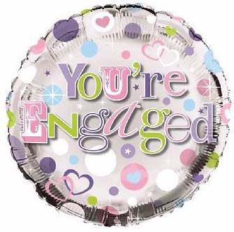 ENGAGED 18IN FOIL BALLOON