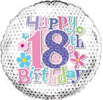 18TH B/DAY 18IN FOIL BALLOON