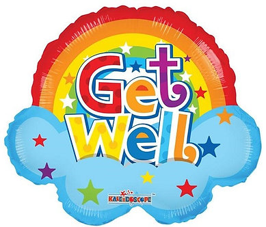 18IN GET WELL RAINBOW SHAPE FOIL
