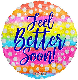 18IN FEEL BETTER SOON DOTS FOIL BALLOON