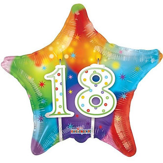 18IN STAR 18TH BIRTHDAY CANDLES FOIL