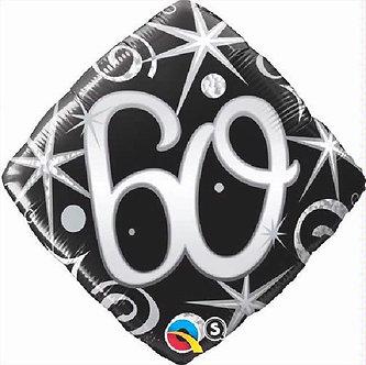 60TH B/DAY DIAMOND 18IN FOIL BALLOON