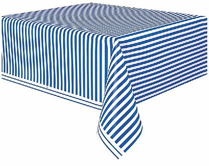 54X108IN BLUE STRIPES TABLECOVER