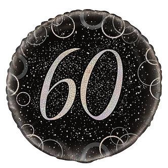 18IN BLACK PRISMATIC 40TH FOIL BALLOON