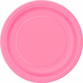 16PK 9IN HOT PINK PLATES