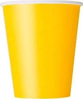 14PK 9OZ YELLOW CUPS