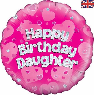 HAPPY B/DAY DAUGHTER 18IN FOIL