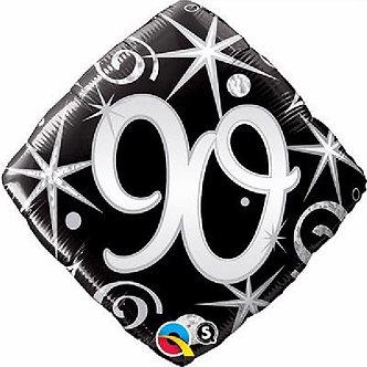 90TH ELEGANT SPARKLES & SWIRLS 18IN FOIL