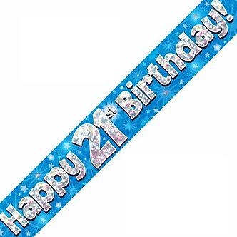 9FT 21ST BIRTHDAY BLUE BANNER