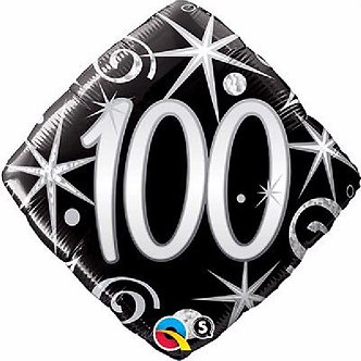 100TH ELEGANT SPARKLES & SWIRLS 18IN FOIL