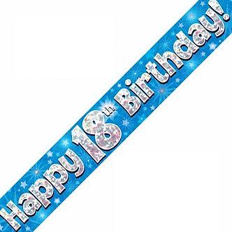 9FT 18TH BIRTHDAY BLUE BANNER