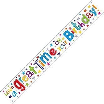 9FT GREAT TIME ON YOUR B/DAY BANNER