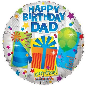 18IN HAPPY BIRTHDAY DAD FOIL BALLOON