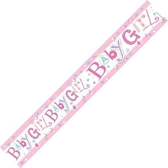 9FT BIRTH GIRL BANNER