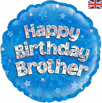HAPPY B/DAY BROTHER 18IN FOIL