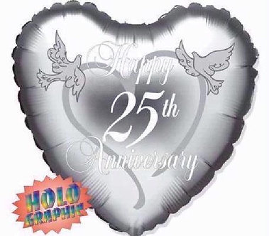 18IN 25TH ANNIVERSARY FOIL BALLOON