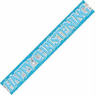 12FT BLUE CHRISTENING PRISMATIC BANNER