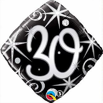 30TH B/DAY DIAMOND 18IN FOIL BALLOON