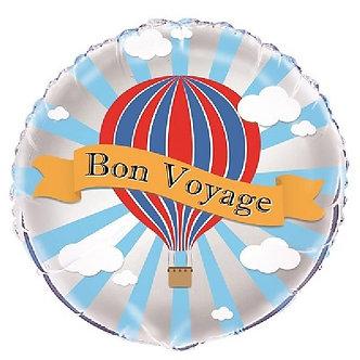 18IN HOT AIR BON VOYAGE FOIL BALLOON