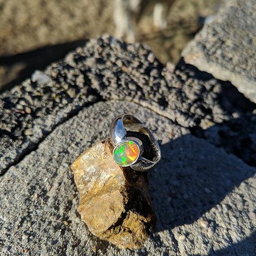 Sz. 8 Opal fab ring