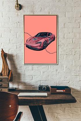 Pink Pig Porsche Taycan