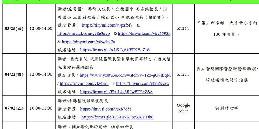 109-2 WHC-USR教師社群饗宴(4):口筆譯人才的新藍海:國際醫療