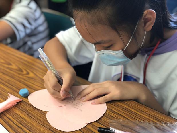 手繪健康,祝福柬國綠雨傘學校平安