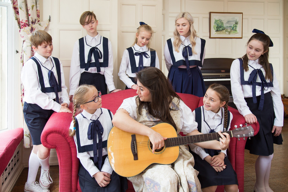 Maria and the Von Trapp children