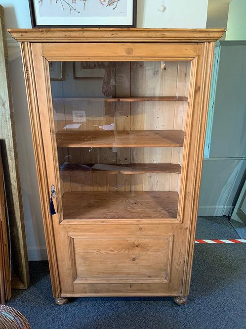 Antique Pine Vitrine/Display Cabinet