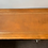 Vintage Ash 2 Drawer Writing Desk with Leather Inlay on Ceramic Casters - Top View